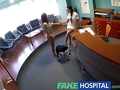 FakeHospital mom julie frend seduces patient and enjoys licking her pussy