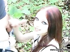 Liz Vicious fucking in the woods.