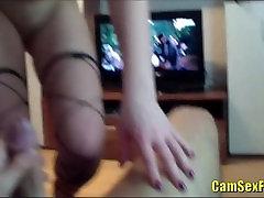teen in stockings fucks her boyfriend