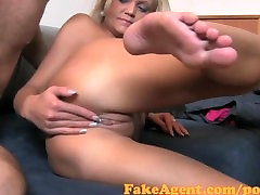 FakeAgent Mature amateur does anal in cating