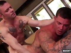 Gay Sex : Sebastian Young & Sergeant Miles Flip Fuck