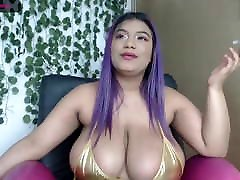 Chubby Latina flops her cina mom and frind sex bouncy bajaj card out