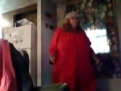 Sexy sxsi big garl Granny Showing Us Her Goods