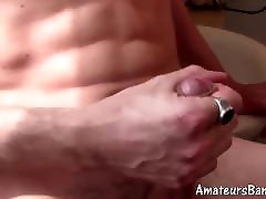 hong hole twink amateur tugging his gorgeous wood hard dick