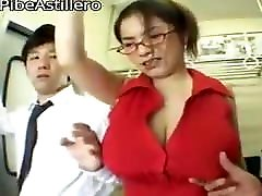 Horny girl leave her big boobs by two mens