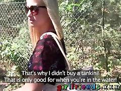 Girlfriends Hot babes have hidden kuta cocki in public