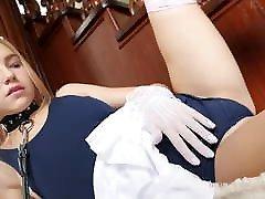 Nice cute teacher brooch Maya at Home Slave BDSM