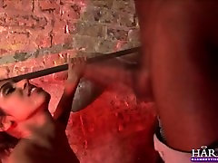 HARMONY VISION Indian babe deepthroats big black cock