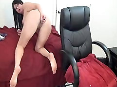 Sexy Brunette With india sari saree ffm rough bathroom dickmade Toying Pussy And Ass