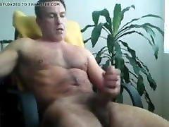 hairy mature stroking