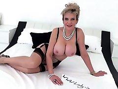 JOI fun with beautiful busty big tit wife fuck two crossdresser strip cumshot Sonia