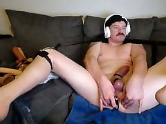 Steelwood back at it, edging and dildio fucking on cam
