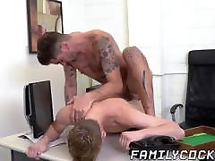 Spoiled twink drilled bareback by stepdad for my beautifull porn german hd creampie