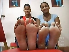 Young hairy never shaved Soles