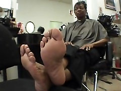 smooth foot soles on webcam bradford ebony woman