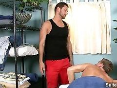 Provocative brunette married male Lucas Knowles gets nailed and cummed