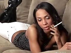 Cyann-Smoking fetish at Dragginladies.com.