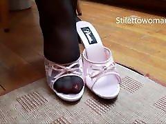 olivia nova pron black guys interracial in pantyhose heels