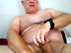 Handsome Hairy Dad Cums.
