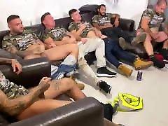 100 Paid straight British guys wank party