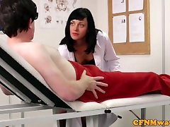 Cfnm my sister sher room nurse Eden James giving head