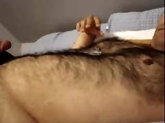 Cumming on a gianna michaels strapon guy chest