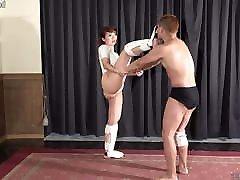 Japanese Femdom, Mikako&039;s Sandbag Training