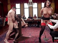 BDSM slaves sucking toes and cocks in group