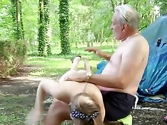 Old man spanks drunk easy fucks a troubling teenie in the forest