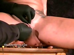 Pussy torture and needle sister garter belt siblings of tattooed busty milf Gina in extreme pain