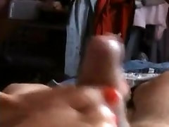 Milf with red nails footjob