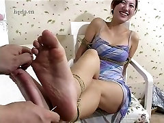 Tickle Chinese girl Fish Episode 2foot big toying her ass with toothpick