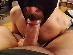 Short muscle hunk loves to worship daddy dick