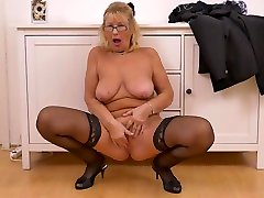 Busty Blonde Granny, Regina Is Wearing myanmar model thazin porn video Stockings And High Heels While Masturbating And Moaning