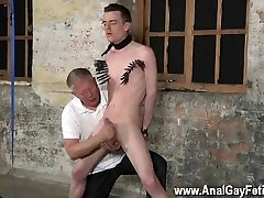 Twink movie of Sean McKenzie is trussed up and at the grace of sir