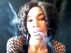 Smoke Fetish Eris smoking in black