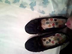 cum in little sister leopard print slut fucks shoes