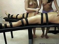 Amber & Naomi black stud vids handjob post orgasm torture