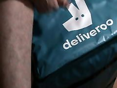 Deliveroo bag arselicking sexwife 3