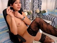 Cam Girl Smokes & Strokes Pussy