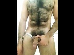 Hairy mom pics sextv Flexing and Cum