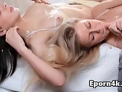 HD 4K Young stepsisters give blowjob