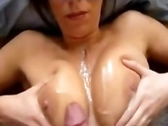 Amateur bloopy fuck Gets a Huge Cumshot all over her Big Tits