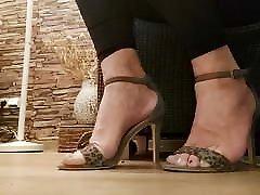 Men in women sandals