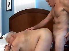 Two daddies having hot fun