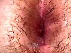 Cum-filled hairy dit son ass