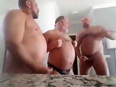 Bearded Chubby Bears 3-WAY: BJ-BB-KISSING-ATM BJ-HJ-BB