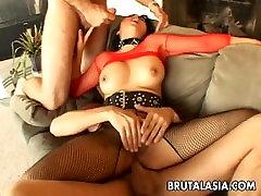 Mega hot 8 class girl porn Asian slut gets spitroasted in a treesome