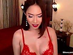 Shemale Nikita Dragun Wanking Her Steamy Cock