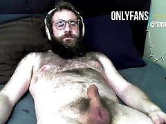 Straight daddy bear edging exclusive cum facial fountain
